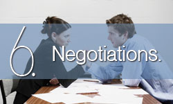 Step 6: Negotiations.