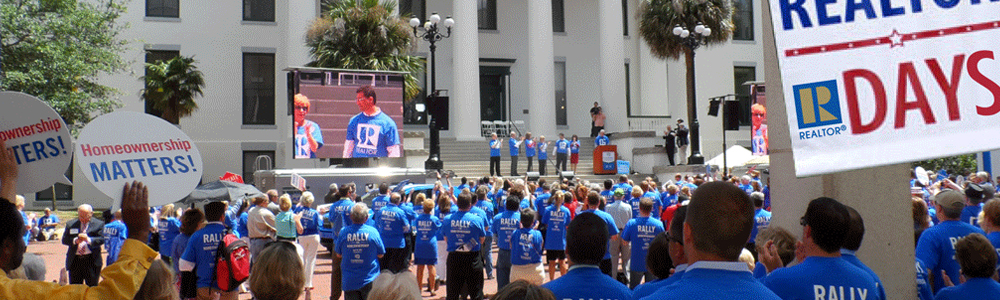 A rally during GARD to discuss the importance of homeownership in Florida.