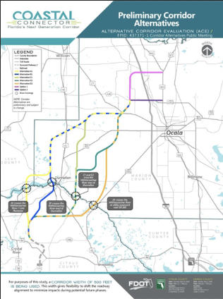 A map of the turnpike plans