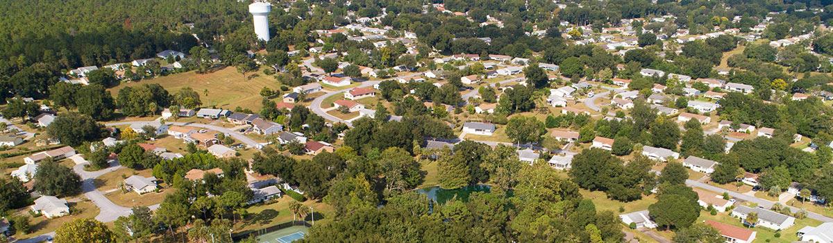 An aerial view at Oak Run.