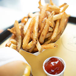 French fries and Ketchup.