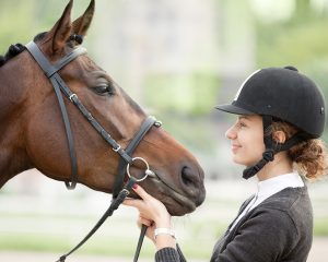 A rider who loves her horse.