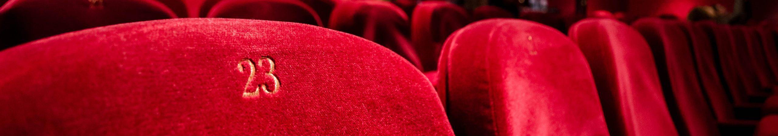 Red velvet theatre seats