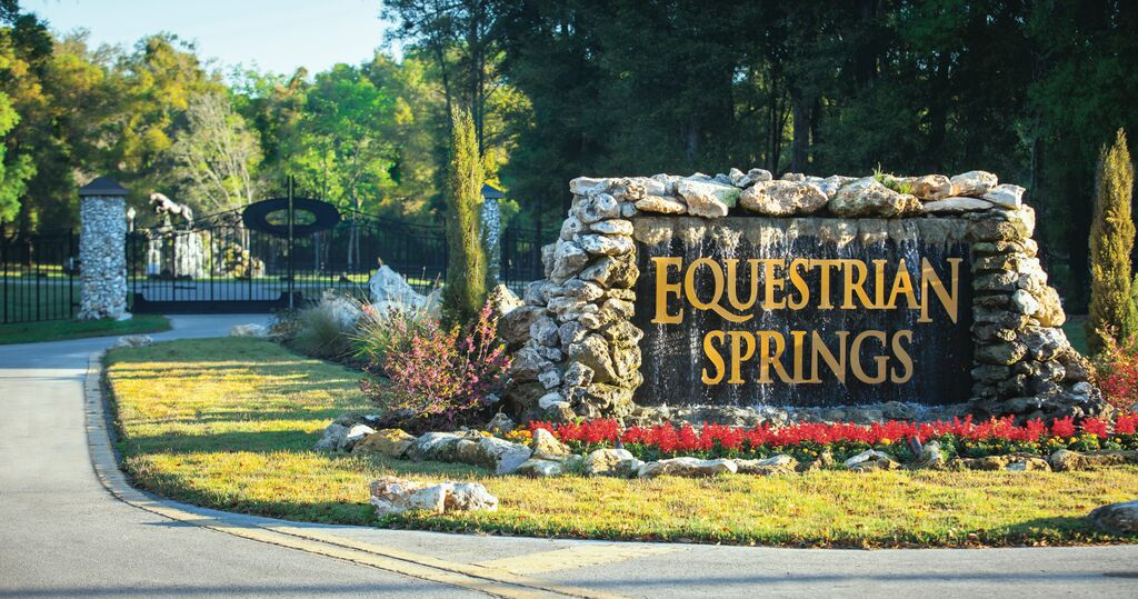 The beautiful entrance to Equestrian Springs