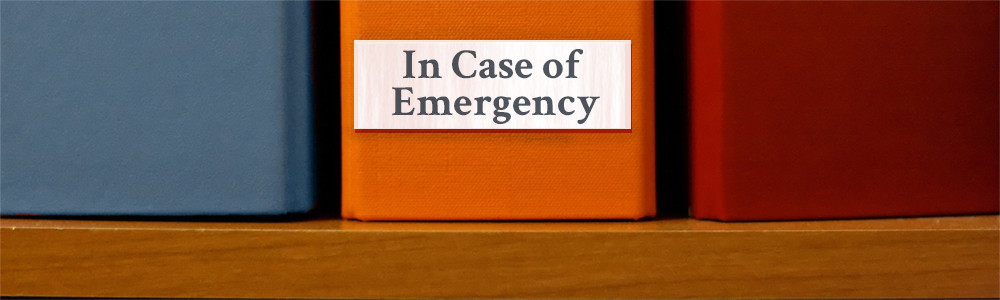 Introduction to emergency binders.