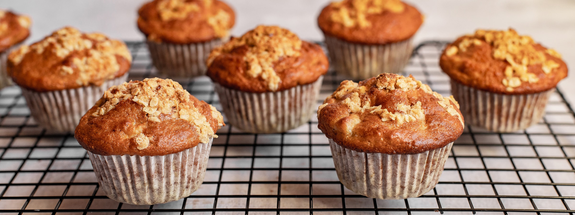 Muffins fresh out of the oven.