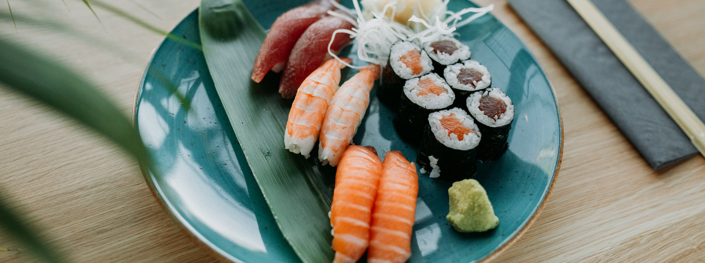 A stunning selection of sushi.