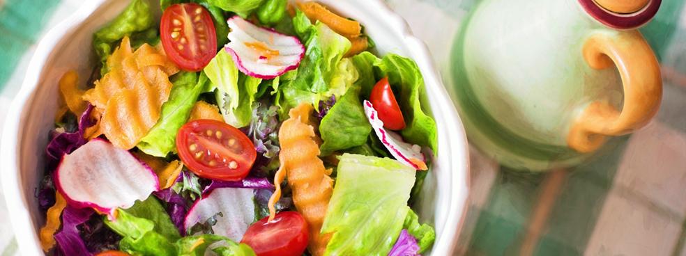 A fresh garden salad
