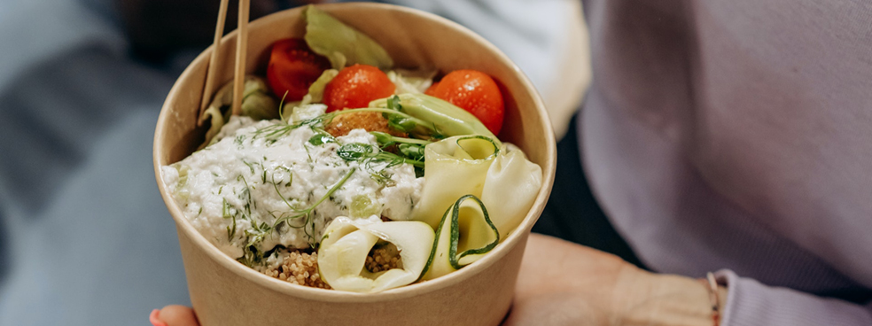 A delicious bowl of fresh foods.