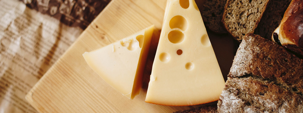 A hearty cheese plate.