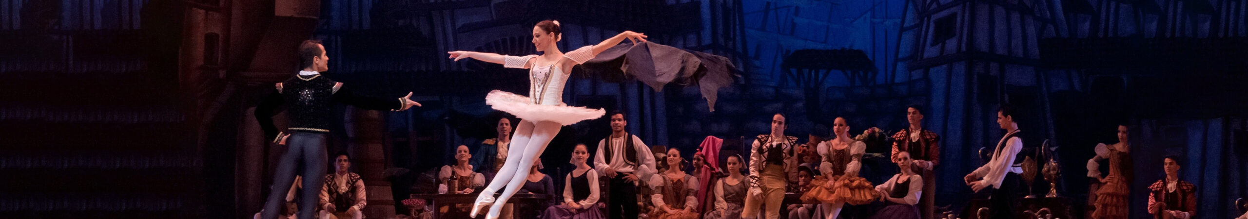 A live theatre ballet performance