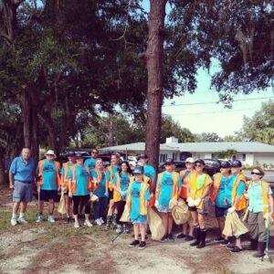 The group of volunteers.