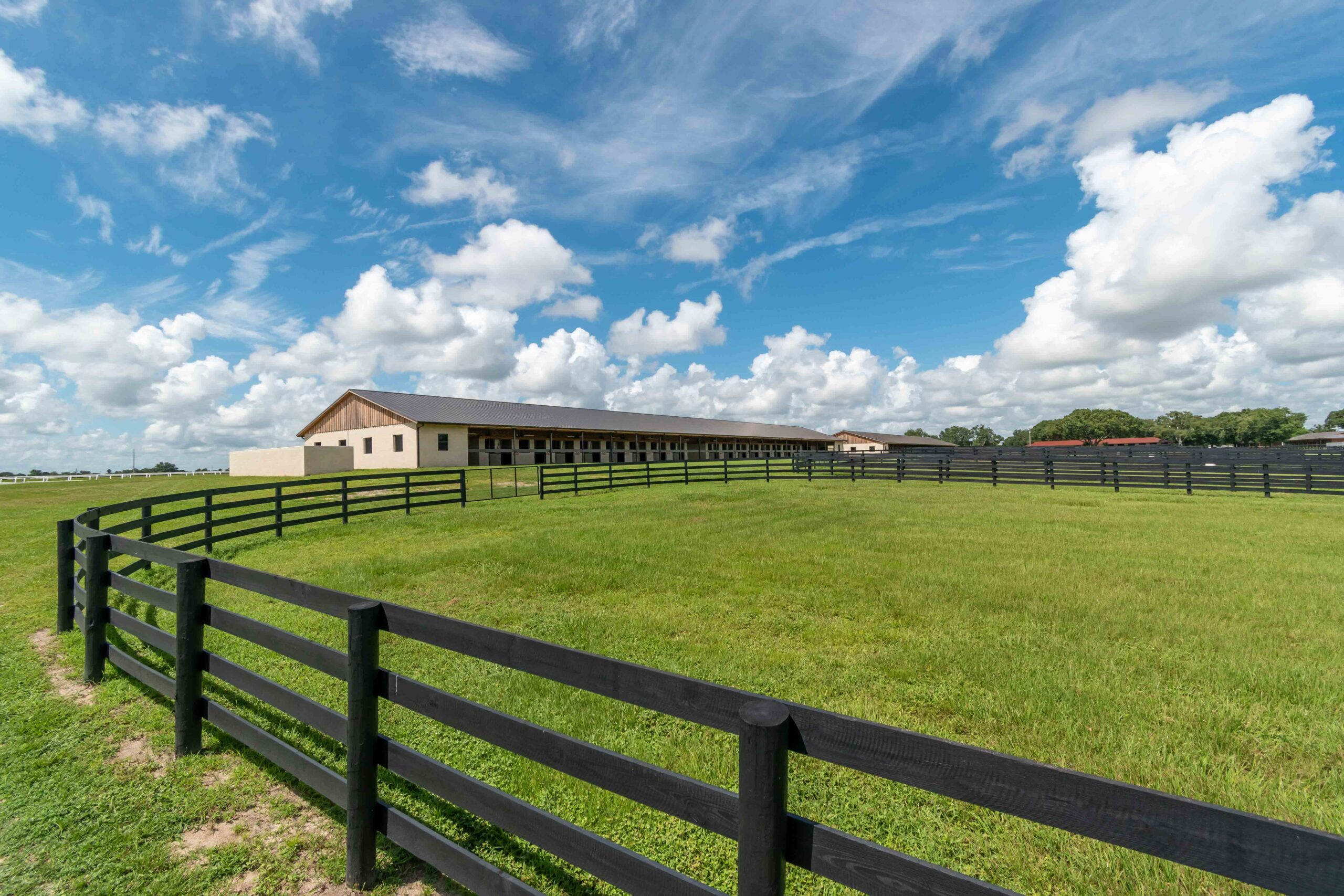 A view of a barn at Winding Oaks